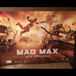 """MAD MAX Heavy Card Stock Poster 36"""" x 26"""""""